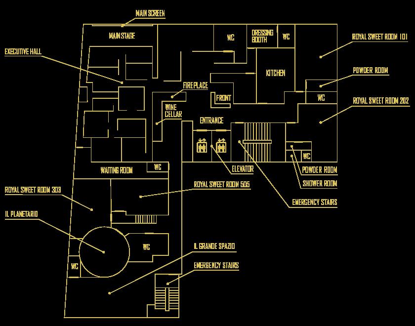 GOLD HARLEMフロアマップ